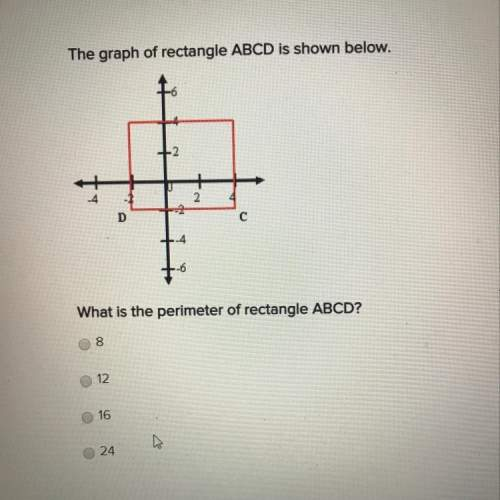 The graph of rectangle abcd is shown above