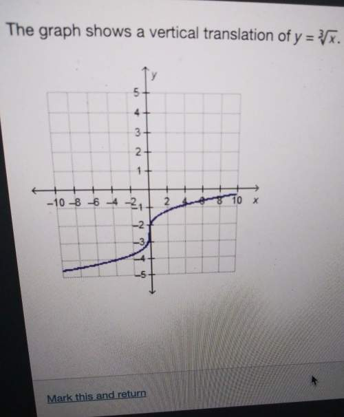 The graph shows a vertical translation of y= square root of x cubedwhat is the range of the translat