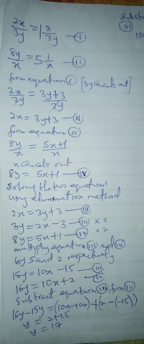 Si el duplo del mayor de dos numeros se divide entre el el triplo del menor, el cocient es 1 y el re