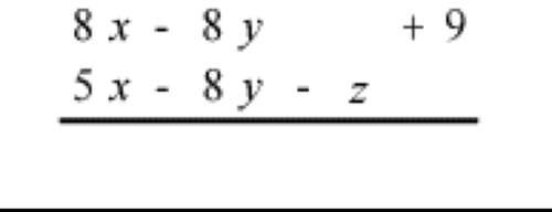 Subtract. 3 x + z + 9 3 x - 16 y - z + 9 3 x - z + 9