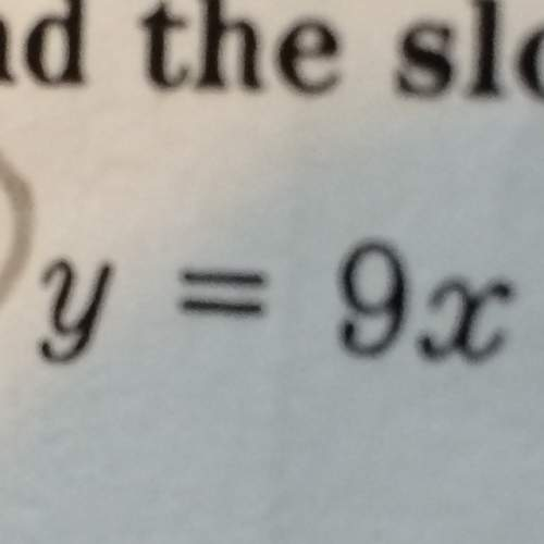 The slope of the line whose equation is given