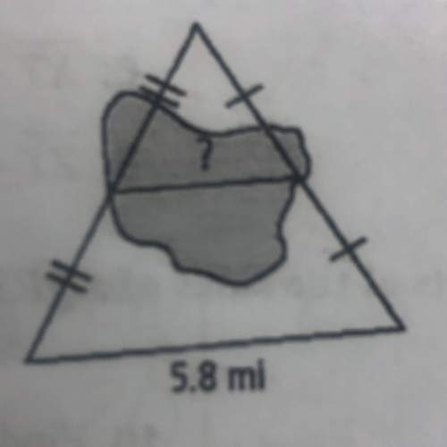 Midsegment of triangle  find the distance across the lake