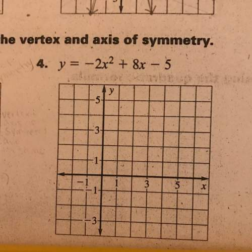 What is the vertex and axis of symmetry of -2x^2+8x-5