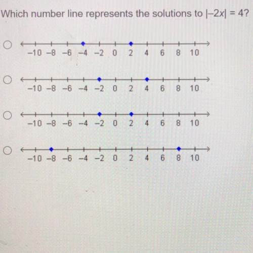 Which number line represents the solutions to 1-2x1 = 4?