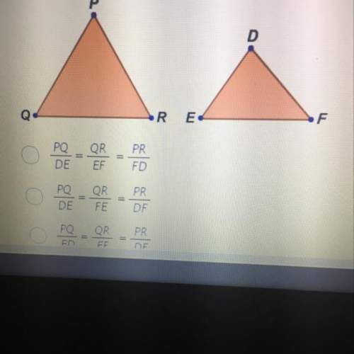 Triangle pqr is similar to triangle def. figures not to scale. which stateme