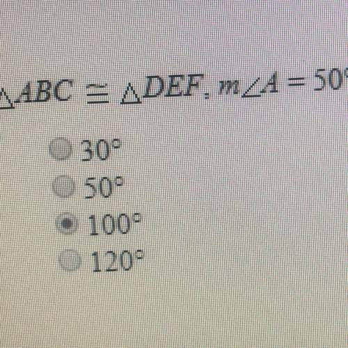 If abc def, m a 50, and m e 30, what is mc