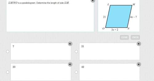 Lmno is a parallelogram. determine the length of side lm