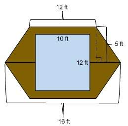 Will make the brainliest the conference table top shown is the shape of two trapezoids. the table to