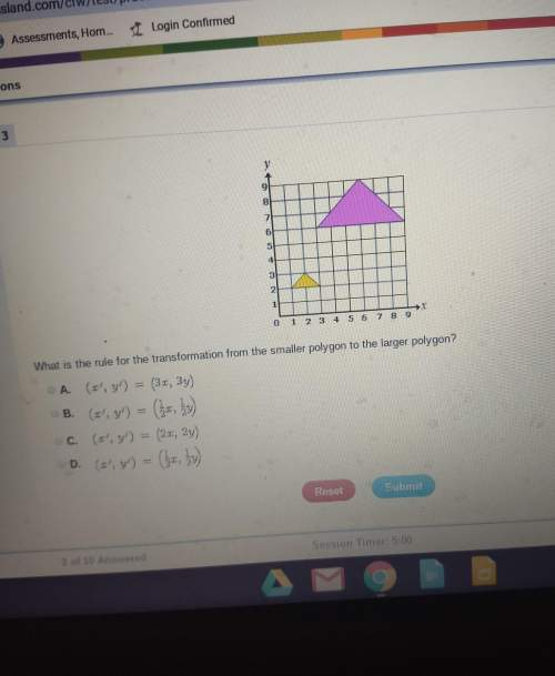 What is the rule for the transformation from the smaller polygon to the larger polygon