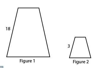 Figure 1 is dilated to get figure 2. what is the scale factor?  enter your a