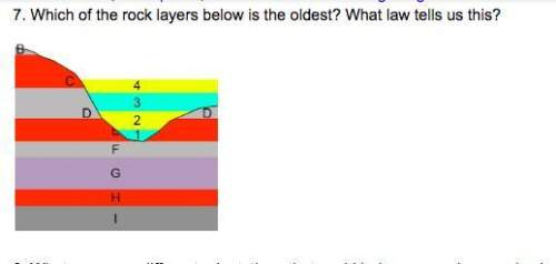 Which of the rock layers below is the oldest? what law tell us this?