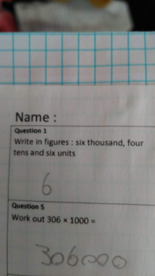 Write in figures: six thousand,four tens and six units