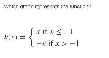 Which graph represents the function? p2 (with graph choices)