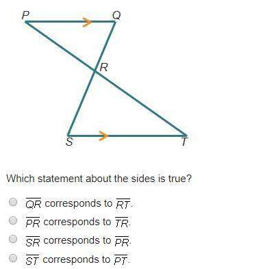 In the drawing below, pq is parallel to st. triangle pqr is similar to triangle tsr.  wh