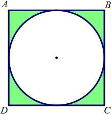 Need an answer quick. if a circle with a diameter of 124 m is inscribed in a square, what is the pro