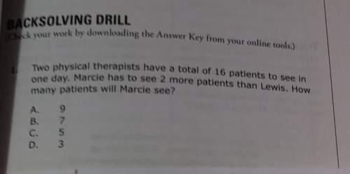Two physical therapists have a total if 16 patients to see in one day. marcie has to see 2 more pati