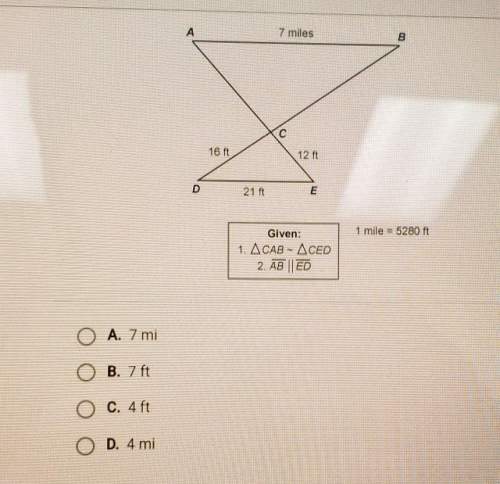 Using the diagram below what is the length of ac? 