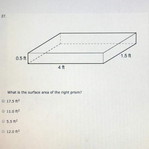 What is the surface area of the right prism?