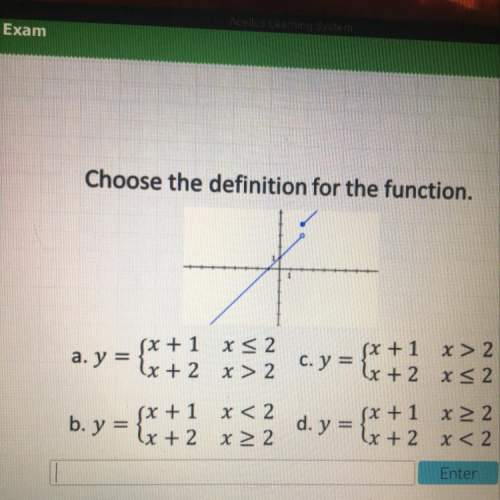 Choose the definition for the function. !