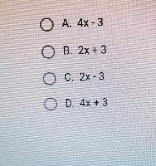 Which of the binomials below is a factor of the trinomial 8x²+2x-3