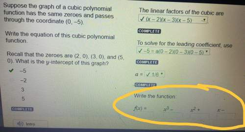 Writing polynomial function given a y-intercept