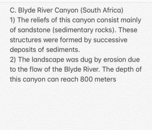 From the document explotation, estimate the formation time of the blyde river canyon (indicating the