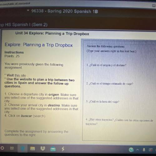 Explore: Planning a Trip Dropbox Answer the following questions Type your answers night in this text