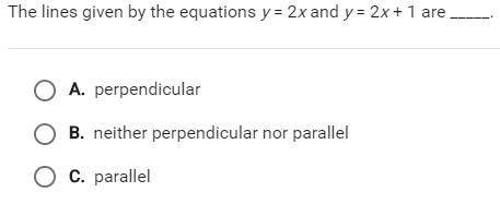 The lines given by the equation y 2x and y 2 x + 1 are ___.
