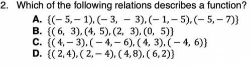 Which of the following relations describes a function